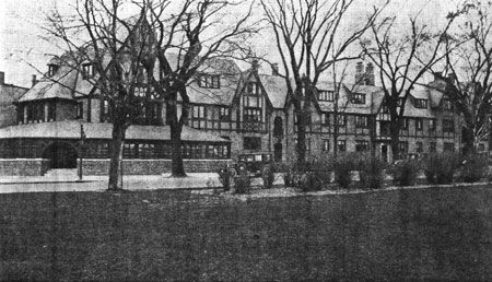 Black and white photo of the Red Coach Inn