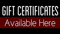 Gift Certificates Available Here