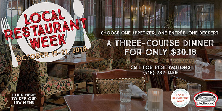 Local Restaurant Week banner for October 15th through 21st