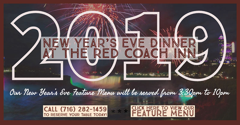 New Year's Eve 2019 Dinner at the Red Coach Inn promotion
